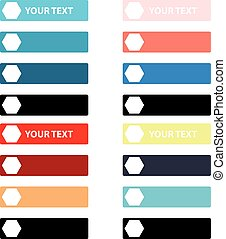 Color labels on white background