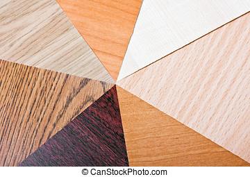 color, laminate, madera, muestras, textura