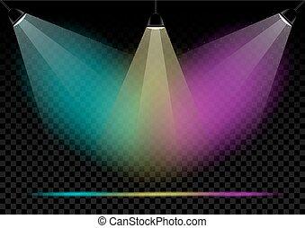 color lamps lights transparent background - Neon multicolors...