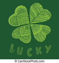 Color leaflet clover, on St. Patrick s Day.