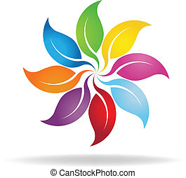 Color leaves wheel background