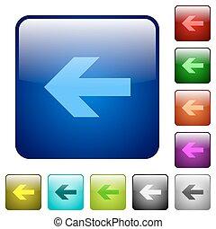 Color left arrow square buttons
