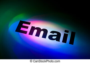 E-Mail - Color light and word of E-Mail for background