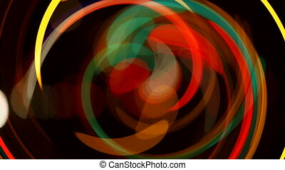 color light effect blur and swirl