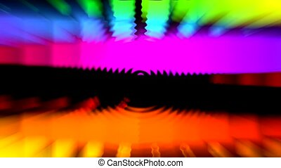 color light rays and ripple