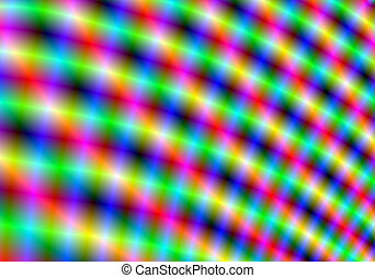 Color light streaks form a pattern and produce a vibrant...