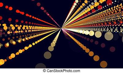 color light trail motion