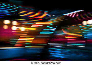 Color lights on the move