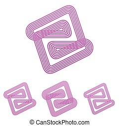 Color line abstract logo design set