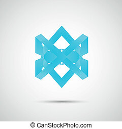 Color line abstract symbol. Vector eps 10