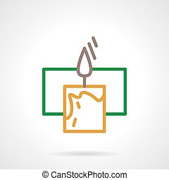 Color line candle vector icon