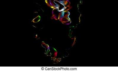 color liquid splash,water drop