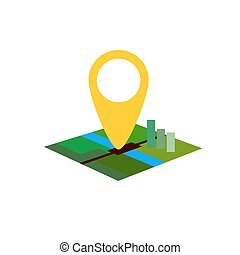 color location map on white background flat