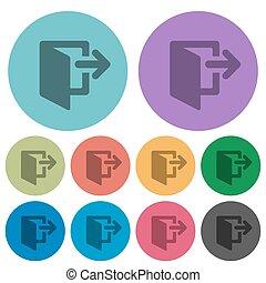 Color logout flat icons