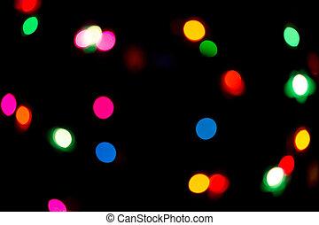 Color, luces, navidad, Plano de fondo