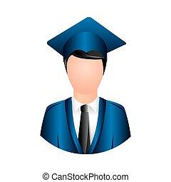 color man graduation icon