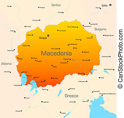 Macedonia - color map of Macedonia country