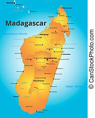 color map of Madagascar country
