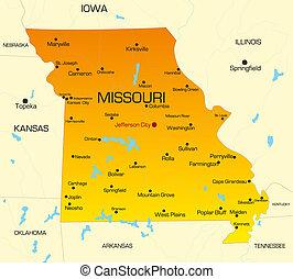 Missouri  - color map of Missouri state. Usa