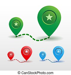Color map pin location icon vector illustration.