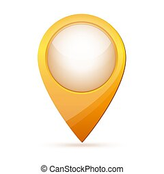 Color map point icon. Vector illustration.