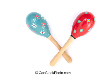 Color maracas percussion music instrument