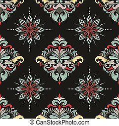 Color March Seamless Pattern Orname