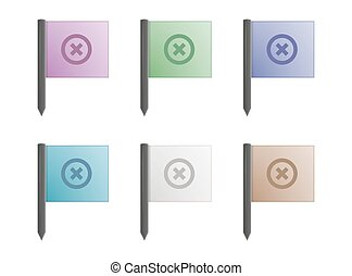 color marker flags with stick