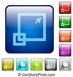 Color maximize window square buttons - Set of maximize ...