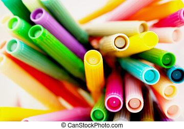 Color Me Beautiful - Multiple colored fet tip pens