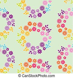 color meadow flowers seamless pattern. vector illustrstion...