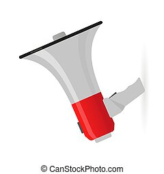color megaphone icon on a white background. Isolated object