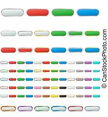 Color metallic zoom out button set