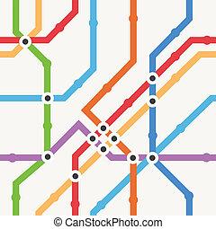 Color metro scheme
