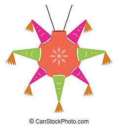 Color, mexicano,  piñata