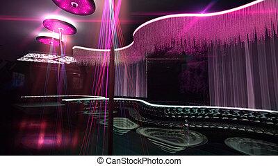 color, mezcla, club nocturno, karaoke, proyector