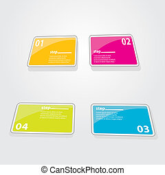 Color Modern Design glossy banners template