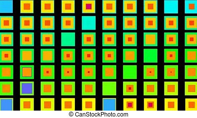 color morph square background, seamless loop,1080p