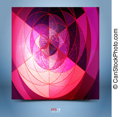 Color mosaic abstraction template
