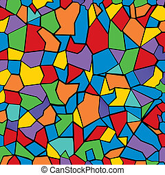Colored mosaic background.
