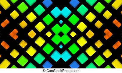 color mosaics matrix, flash disco light
