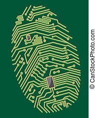 Color motherboard fingerprint for security or computer...
