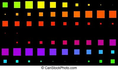color motion square matrix background