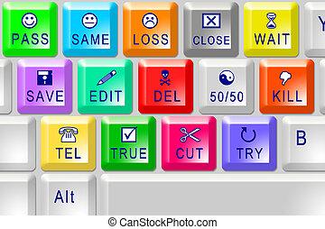 color, multi, teclado