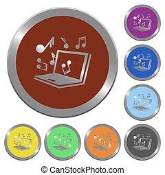 Color multimedia buttons