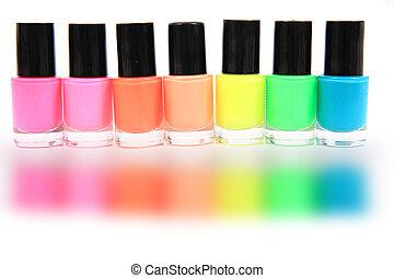 nail polish isolated on the white background