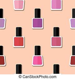 Color nail polish pattern