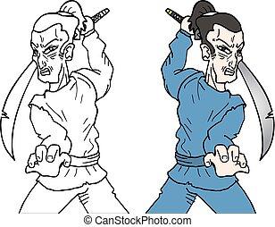 Color ninja - Creative design of color ninja