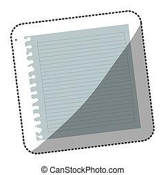 color notebook school icon