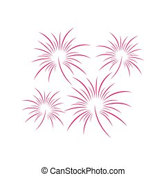 color of fireworks vector happy new year illustration